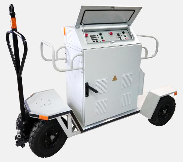 Mobile AC power supply 400 Hz