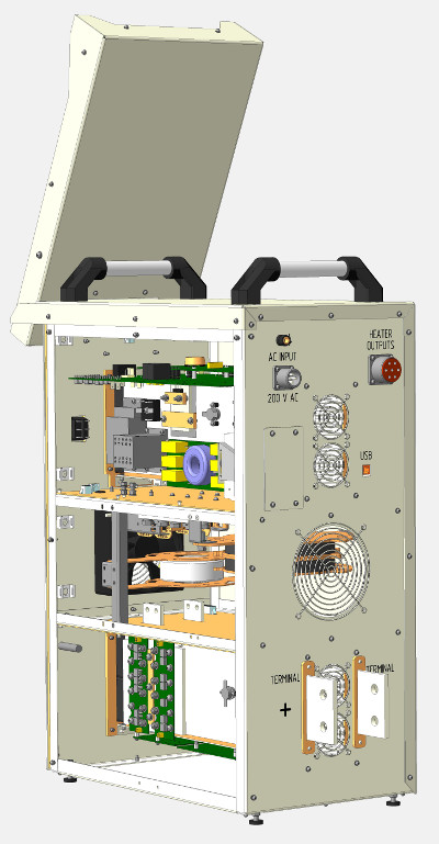 power supply for service tomograph (CAD model)