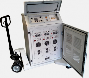The DC power supply for test aircraft equipment, used standarts MIL-STD-704, RTCA/DO-160F